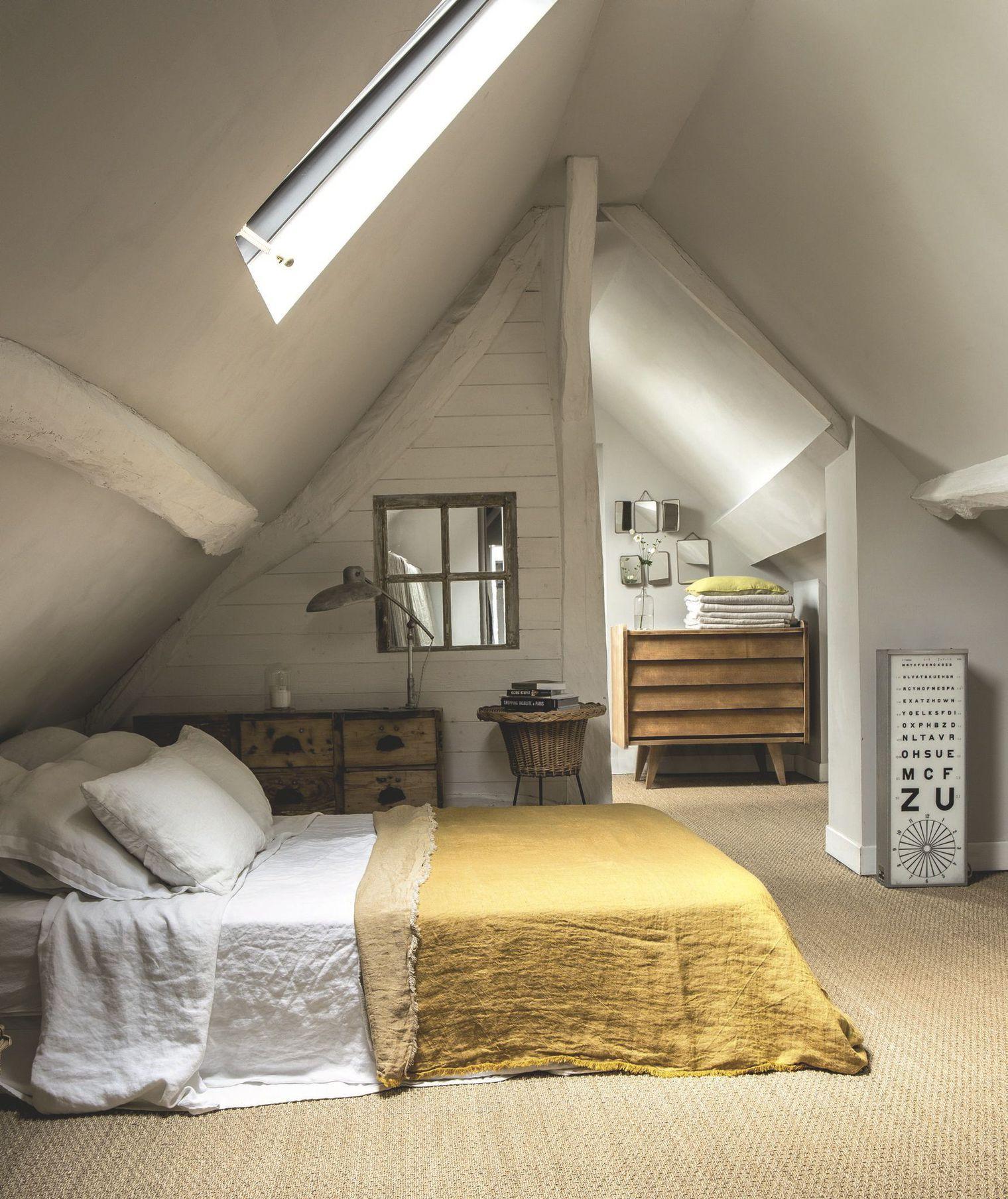 maison brocante en normandie   attic bedroom   pinterest   maison