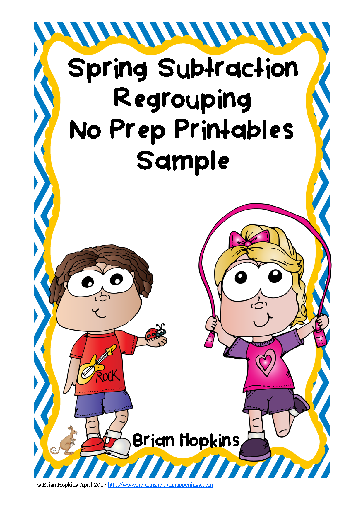 Spring Subtraction Regrouping No Prep Printables Sample