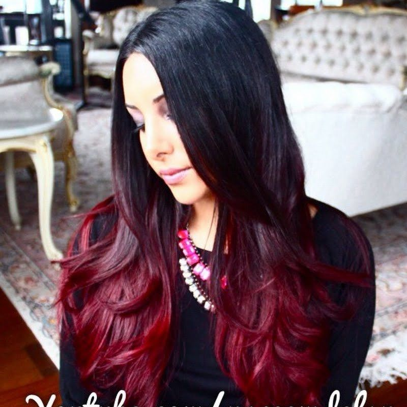 Color your hair with a rich wine ombre dye with locks - Technique ombre hair ...