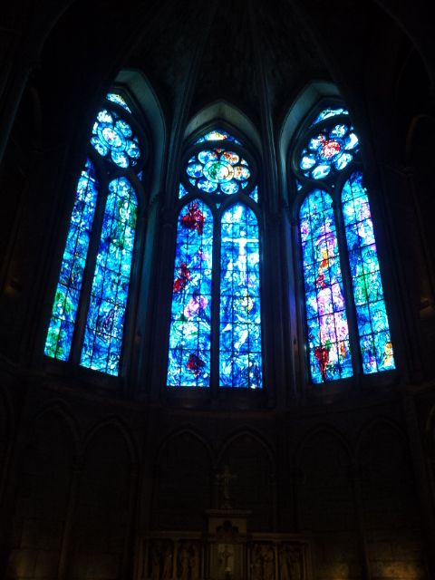 Marc Chagall stained glass window at the Reims Cathedral, France. (This one inspires me so much, i love it.)