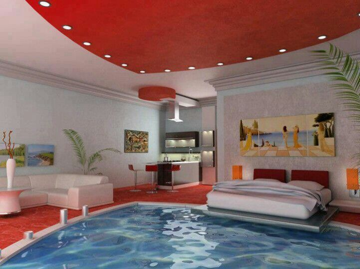 Awesome Bedroom With A Pool Inside Bedrooms Dream Rooms Cool