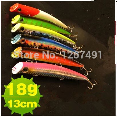 6 pcs/lot high quality pesca/fishing lures 13cm/18g pencil lures laser hard baits carp fishing