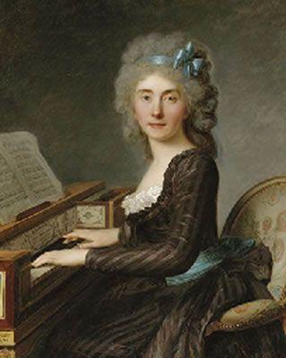 Antoine Vestier, Portrait of Mademoiselle Rouillé, three-quarter-length, at the pianoforte