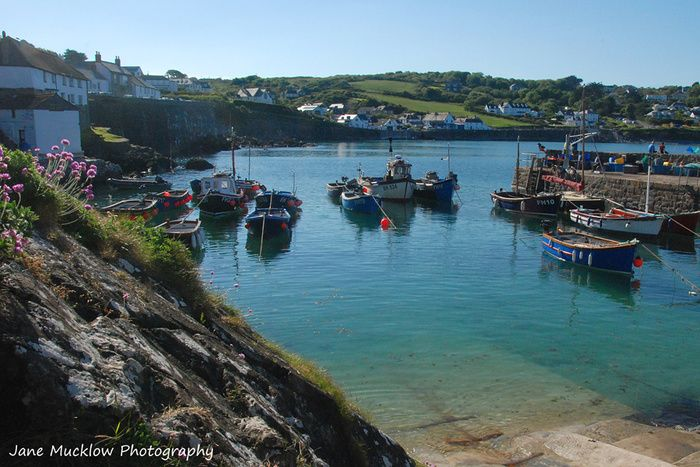 Coverack harbour, by Jane Mucklow Photography.