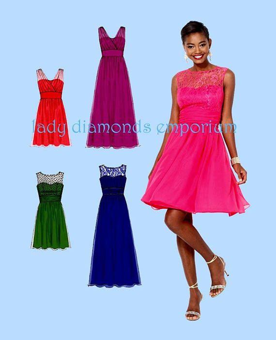 McCalls M7090 Womens Create Your Own Dress Plus Size 18W 20W 22W 24W ...