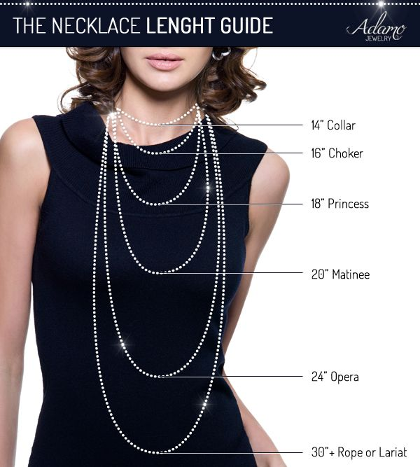 bd91ed108ddfc8 Pearl Necklace Lengths—Style Guide : Collar, Choker, Princess, Matinee,  Opera, Rope. *We have all kinds of pearl jewelry here at Adamo.*