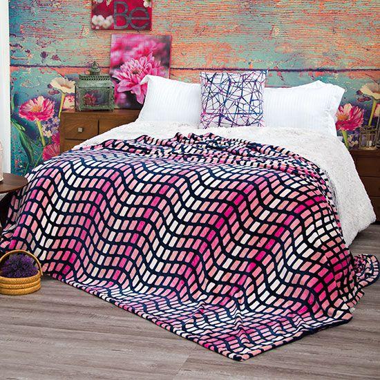 Cobertor Flannel Ligero Extrasuave Prisma #Cobertores #Cobertor #Ligero #Hogar #IntimaHogar #Decoracion