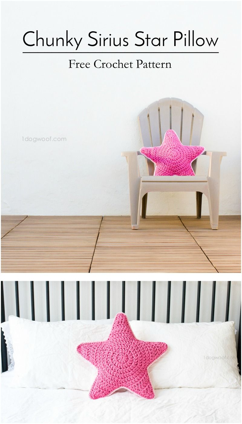 Sirius the Crochet Star Pillow | Estrella, Hilo de tela y Trapillo