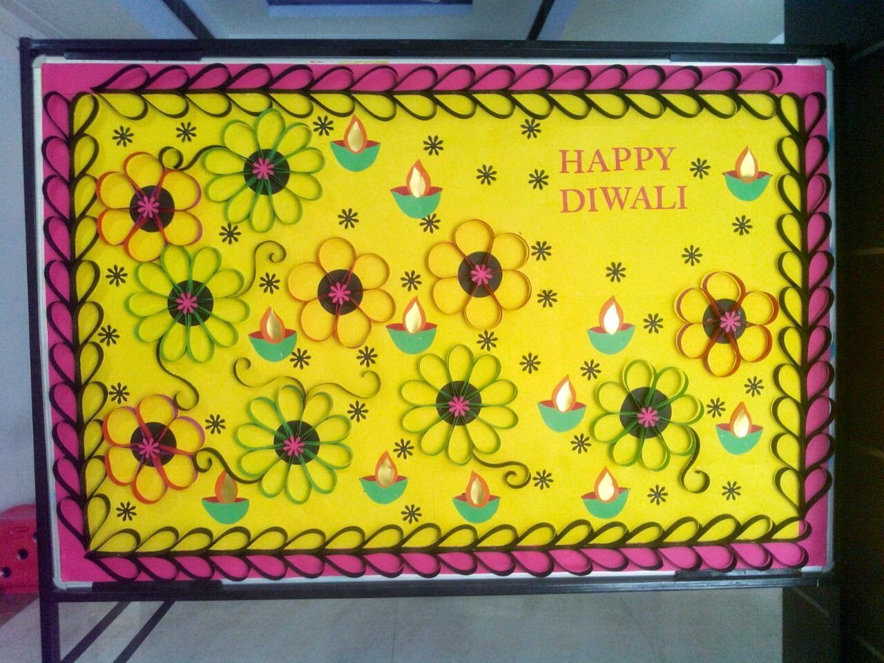School Notice Board Decoration For Diwali Oh Decor Curtain