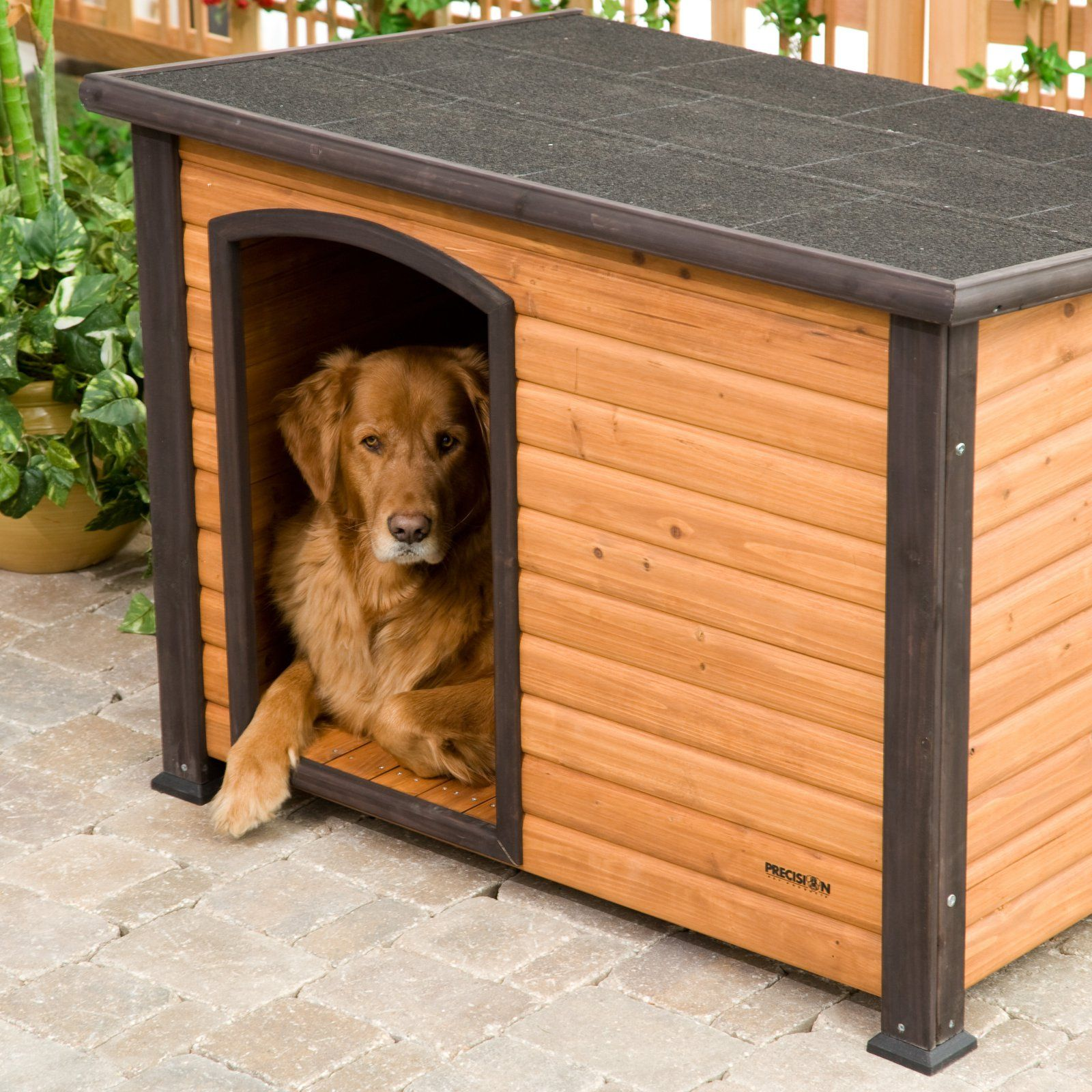 Precision Pet Extreme Outback Log Cabin Dog House Outdoor Dog