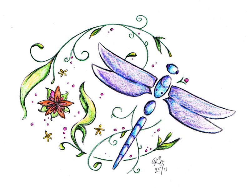 Lotus Flower Tattoo With Dragonfly: Dragonfly Tattoo By Sapheron-Art On