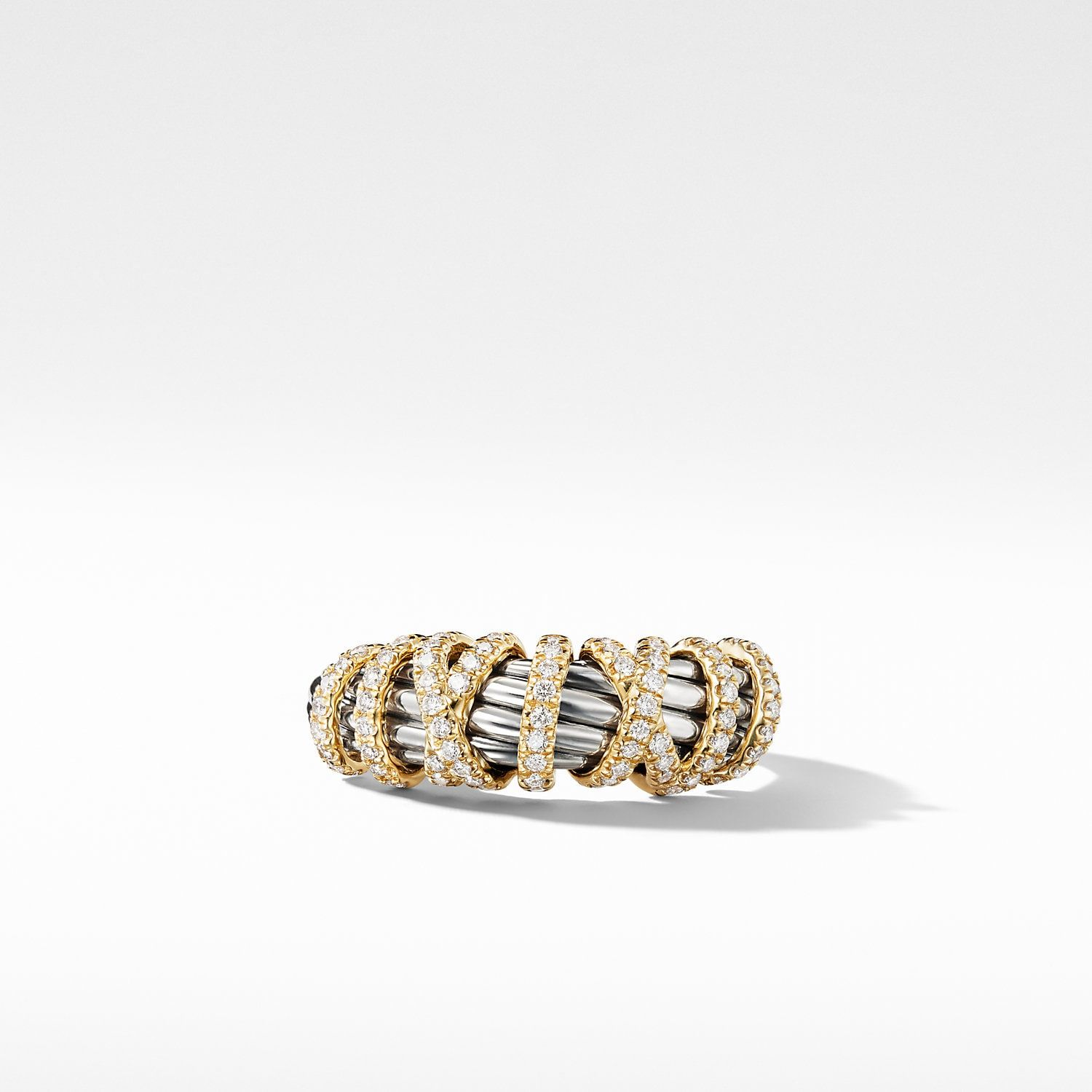 Helena Ring With Diamonds And 18k Gold 8mm David Yurman Women Rings Pearl Cocktail Ring Rings