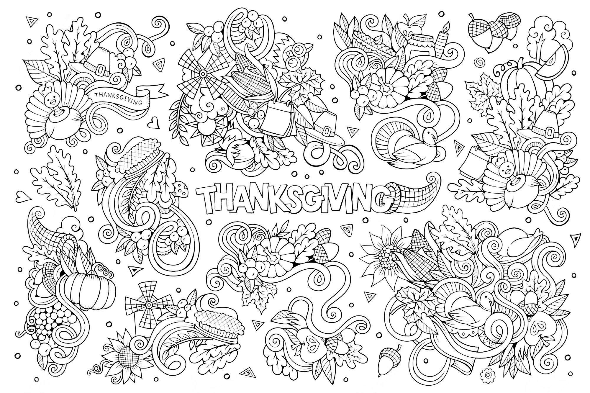 Hand drawn Doodle cartoon set of objects and symbols on the ...
