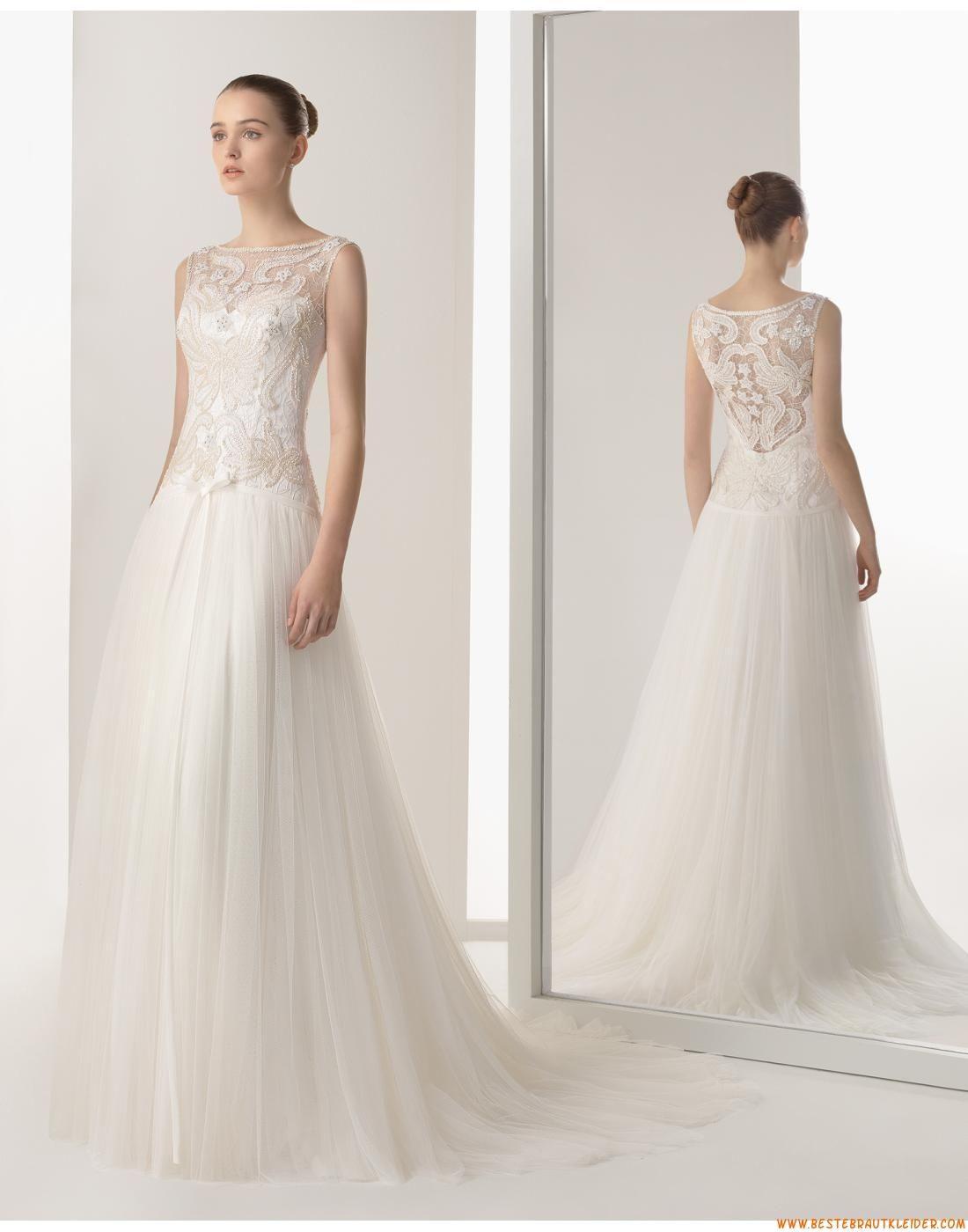 A-linie Exklusive Außergewöhnliche Brautkleider aus Softnetz mit ...