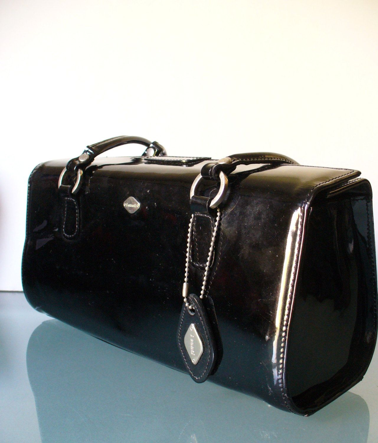 9a871039f55e I Santi Made in Italy Patent Leather Bag by EurotrashItaly on Etsy ...