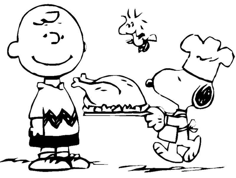 Charlie Brown and Snoopy Thanksgiving Coloring Pages | Coloring fun ...