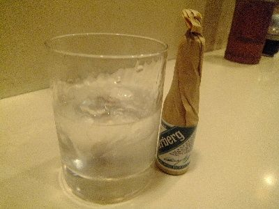 Original cocktail(ジンに薬草リキュールを添えて)