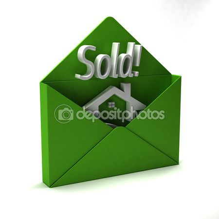 3d Sold Word In Green Envelope Stock Image 74170477 Logo In