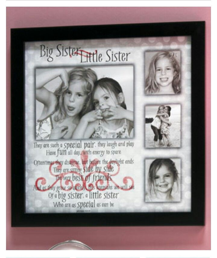 Sibling Collage Frames Big Sister Little Sister.. | Pictures Frames ...