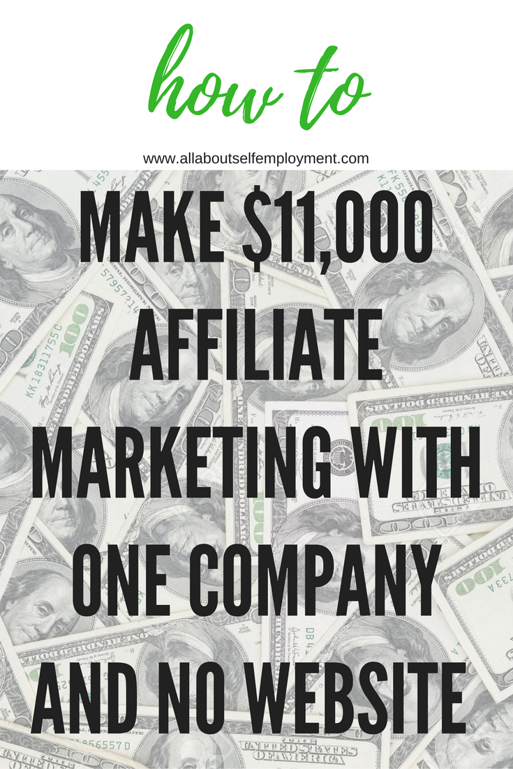 No excuses. This affiliate marketing expert made $11,000 from one company with no website or tech experience. With some planning and these tips, you can too. via @allaboutselfemployment