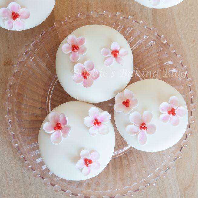Cherry Blossom Cupcakes.