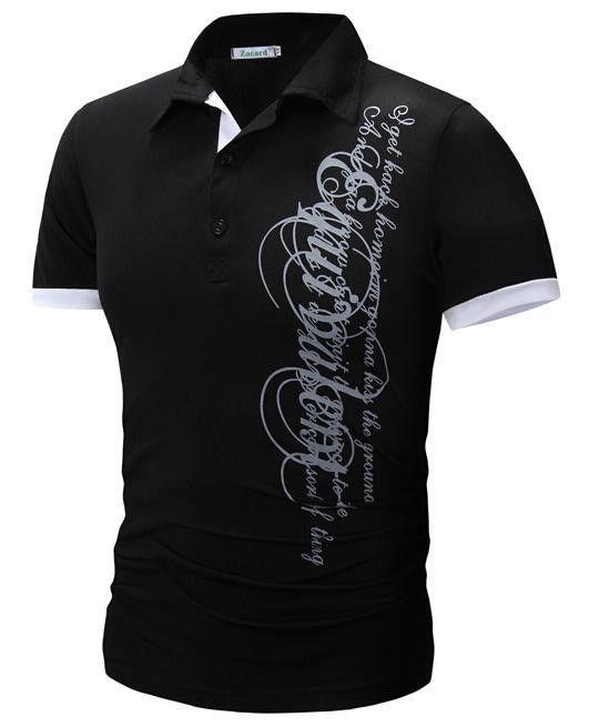 Men'S Fashion Color Printing Shirt Short-Sleeve T Shirt Men Slim Men T-Shirt…