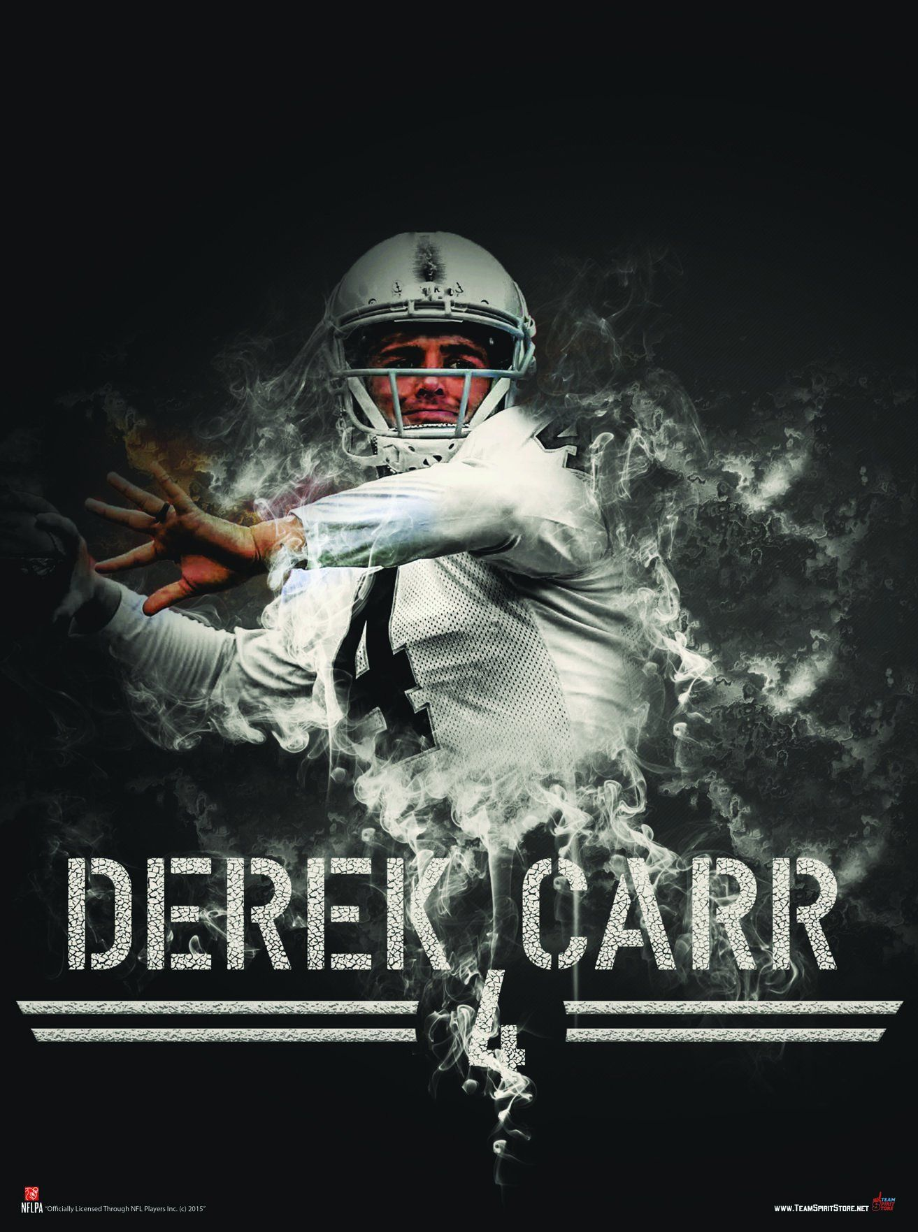 Oakland Raiders Derek Carr Silver Slinger 24x18 Football Poster ... 4a8c12534c307