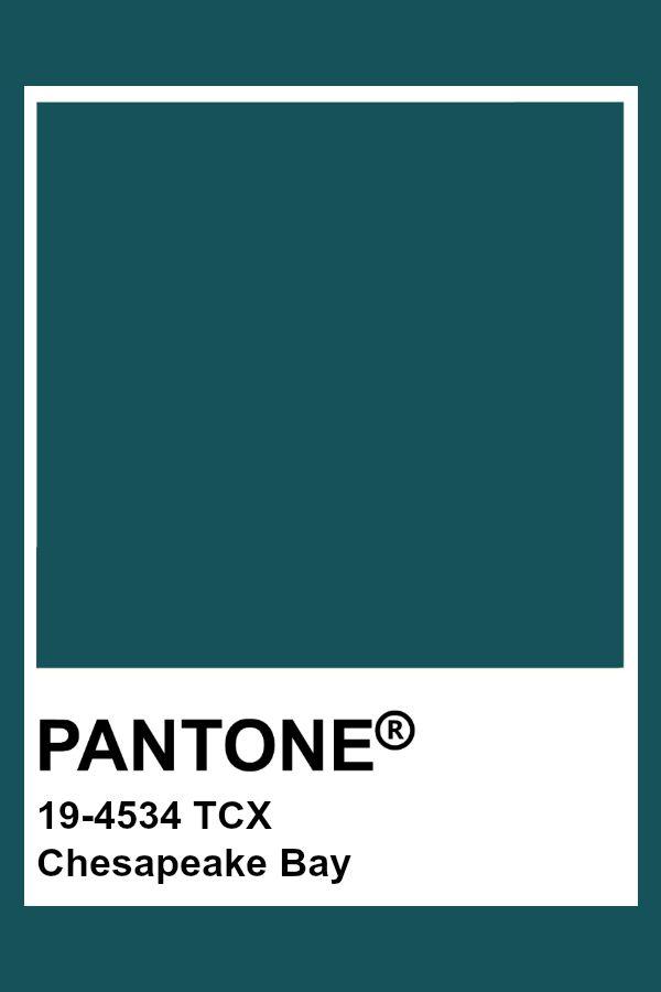 Pantone 19 4534 Tcx Chesapeake Bay Pantone Color Teal In 2020 Pantone Color Chart Pantone Colour Palettes Pantone Palette