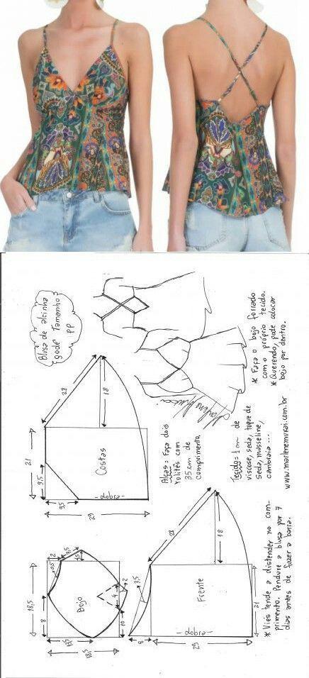 DIY Womens Clothing : Molde de blusa para realizar con viscosedas ...