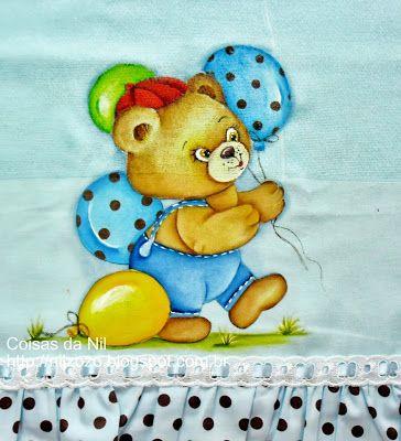 Brincando Com Os Baloes Com Imagens Pinturas De Ursos Pintura