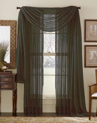 sheer window treatment ideas ultimate olive green sheer panel beige quatrafoil printed curtain pinterest