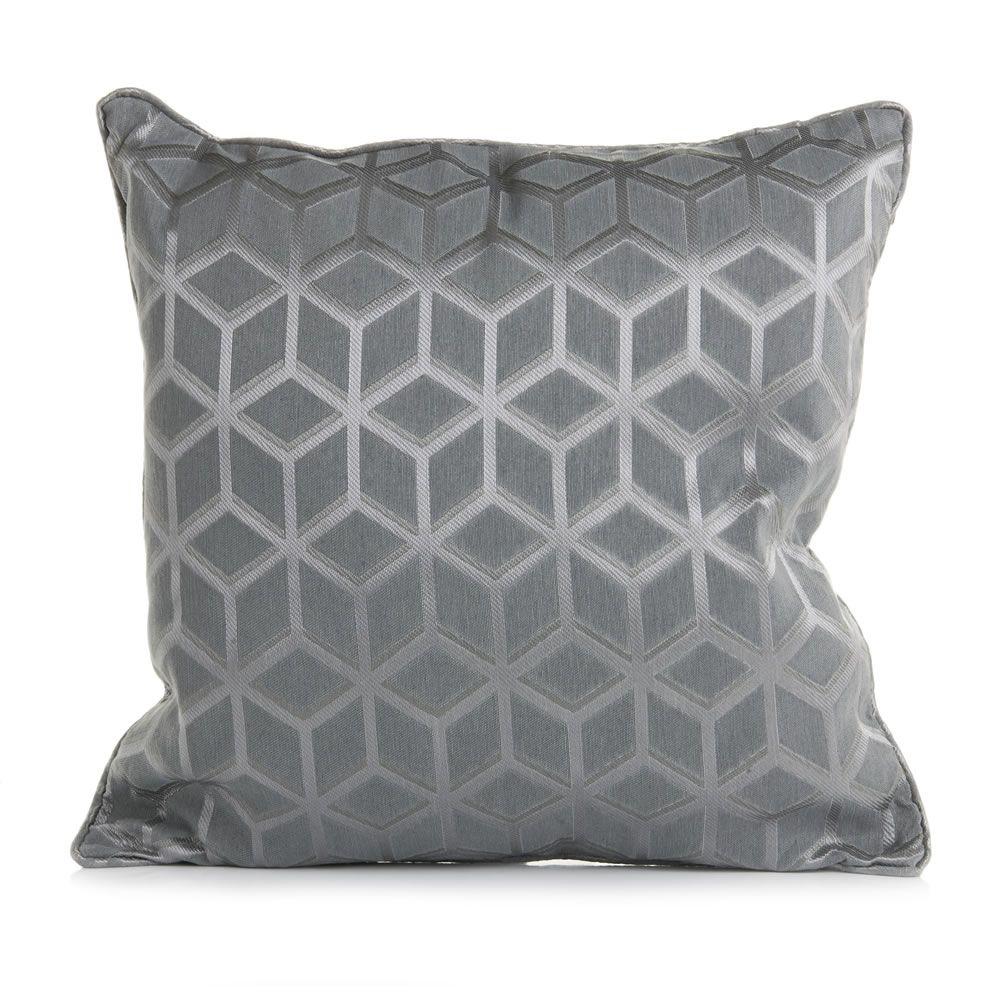 Wilko Woven Geo Cushion 43x43cm Wilko, Navy living rooms