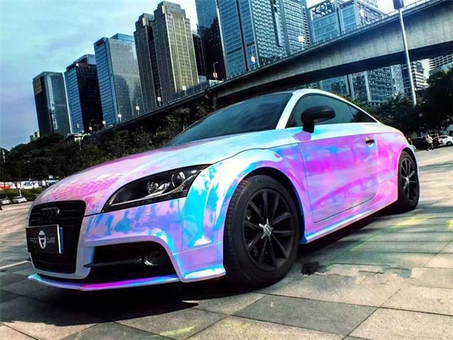 US $25.36 |Holographic Rainbow Chrome Car Vinyl Wrap Bubble Free Sticker Film20inx54.33in|stickers free|stickers stickerssticker vinyl wrap - AliExpress