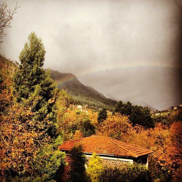 #rainbow #winter #rainy #day #nature #mountain #trees #pensaomanuelpires #geres #portugal #portugaldenorteasul #igers_porto - @ritzdesousa- #webstagram