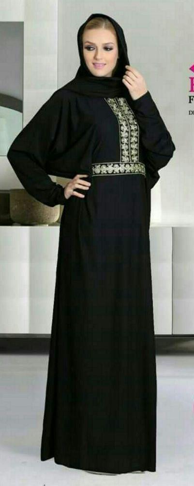 40c904e52e51 Women Dubai Black Abaya Jalabiya Dress New Very Fancy Chiffon Wedding  Caftan | Clothing, Shoes & Accessories, Women's Clothing, Dresses | eBay!