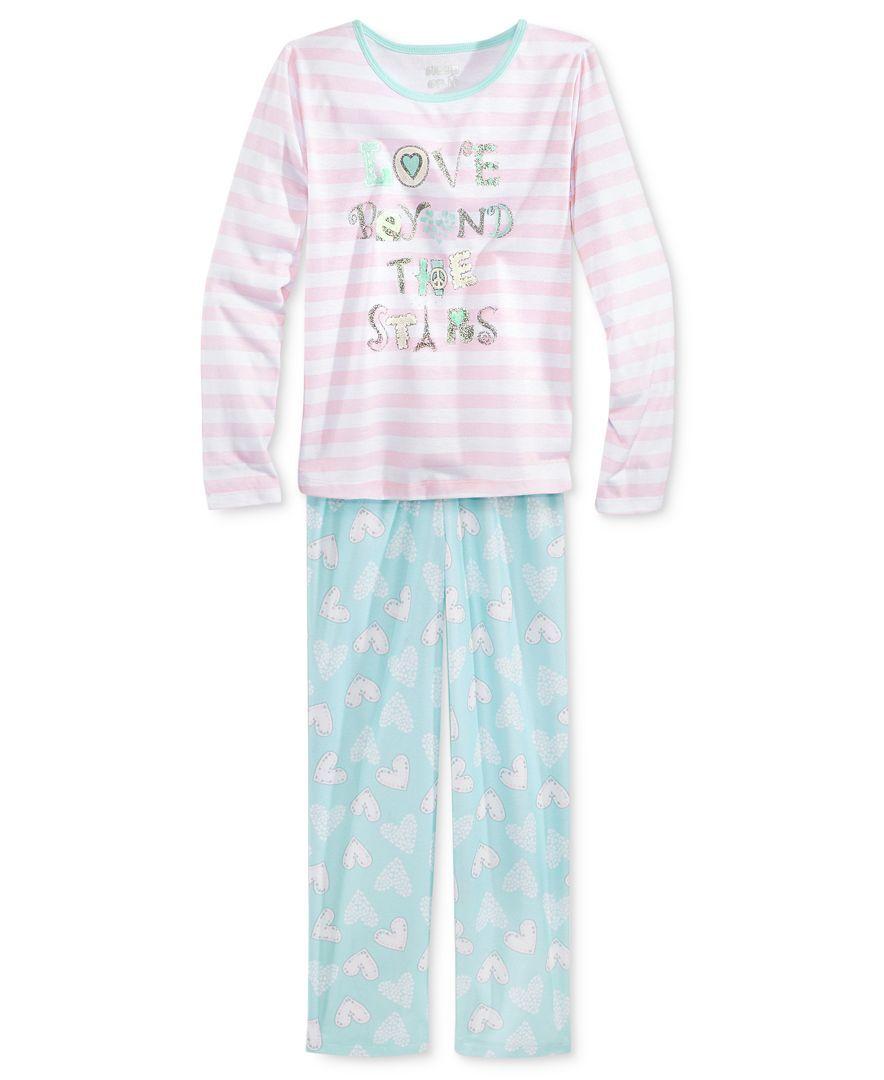 Sleep On It 2-Pc. Love Beyond Pajama Set, Little Girls (2-6X) & Big Girls (7-16)