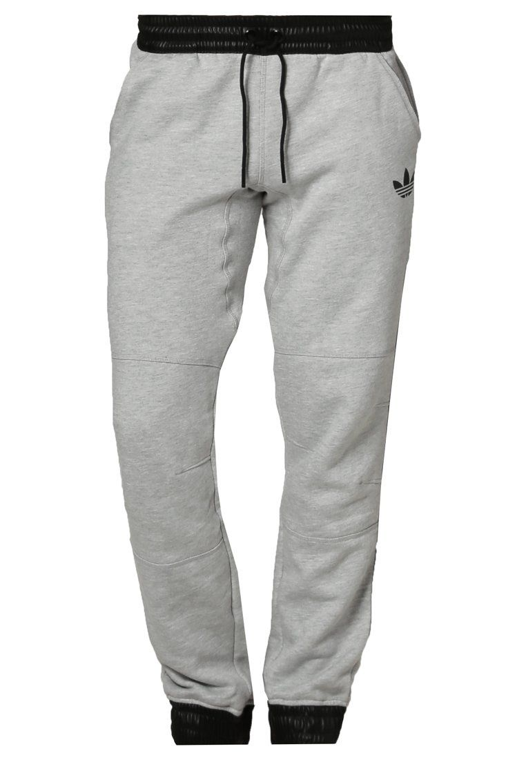 adidas Originals Jogginghose - medium heather grey/ black - Zalando.de