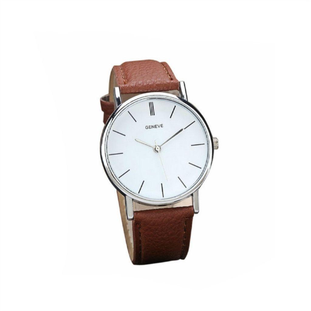 Minimal Vegan Leather Wristwatch in Brown | IZZY Cali – Izzy California