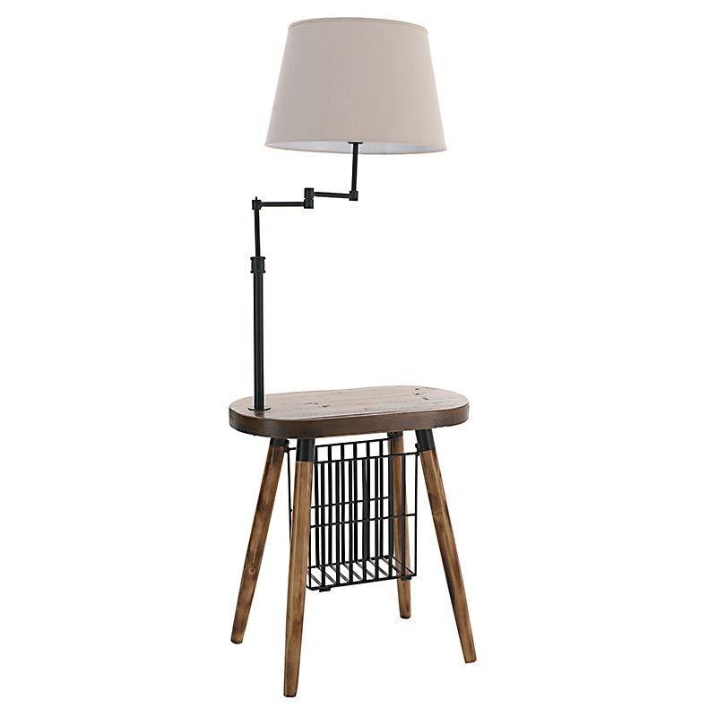 WOODEN FLOOR LAMP IN BROWN COLOR 55X32X150 - Floor - LIGHTINGS