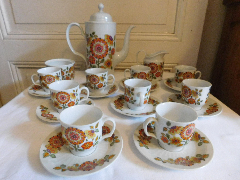 Service A Cafe Pour Neuf Porcelaine Seltmann Weiden Bavaria Etsy