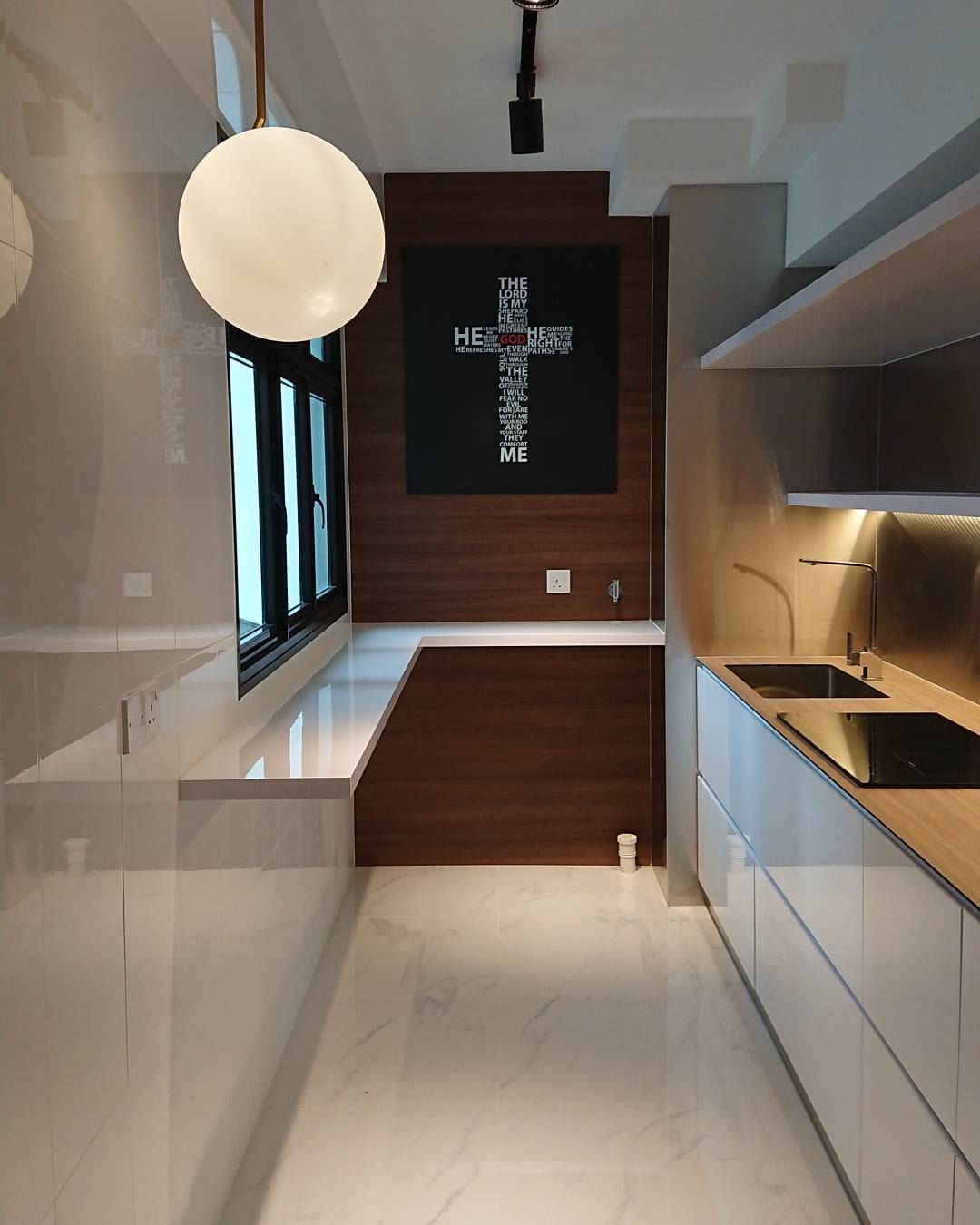1st Interior Design Project Almost Completing 2 Room 47sqm Hdb Bto Fernvale Riverwalk Sengkang West Home Renovation Interior Design Kitchen Kitchen Design
