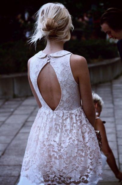 White dress is like a small wedding dress!