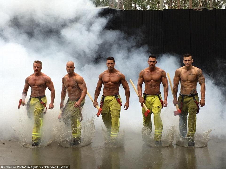 Firefighters Strip Off In Steamy Shoot For 2017 Charity Calendar