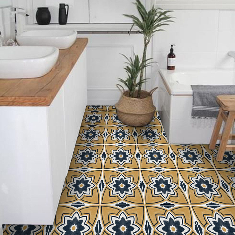 Sale Vinyl Floor Tile Sticker Floor Decals Carreaux Etsy Vinyl Tile Floor Decal Tile Decals