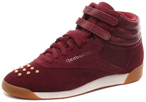 Reebok Classic F/S Hi Bling Burgundy Womens Sneakers, Size 7 | Lady Shoes |  Pinterest | Reebok, Bling and Ladies shoes