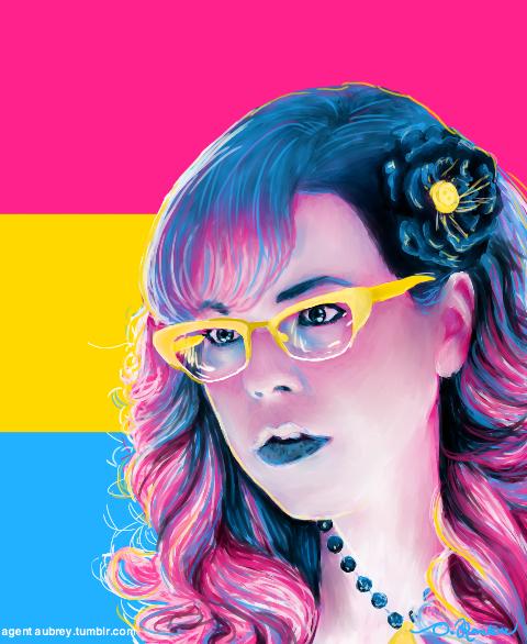 Pansexual flag hair