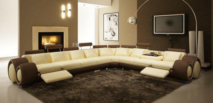 braune wandgestaltung braune neuancen in dem wohnzimmer - braune wandgestaltung im wohnzimmer ideen