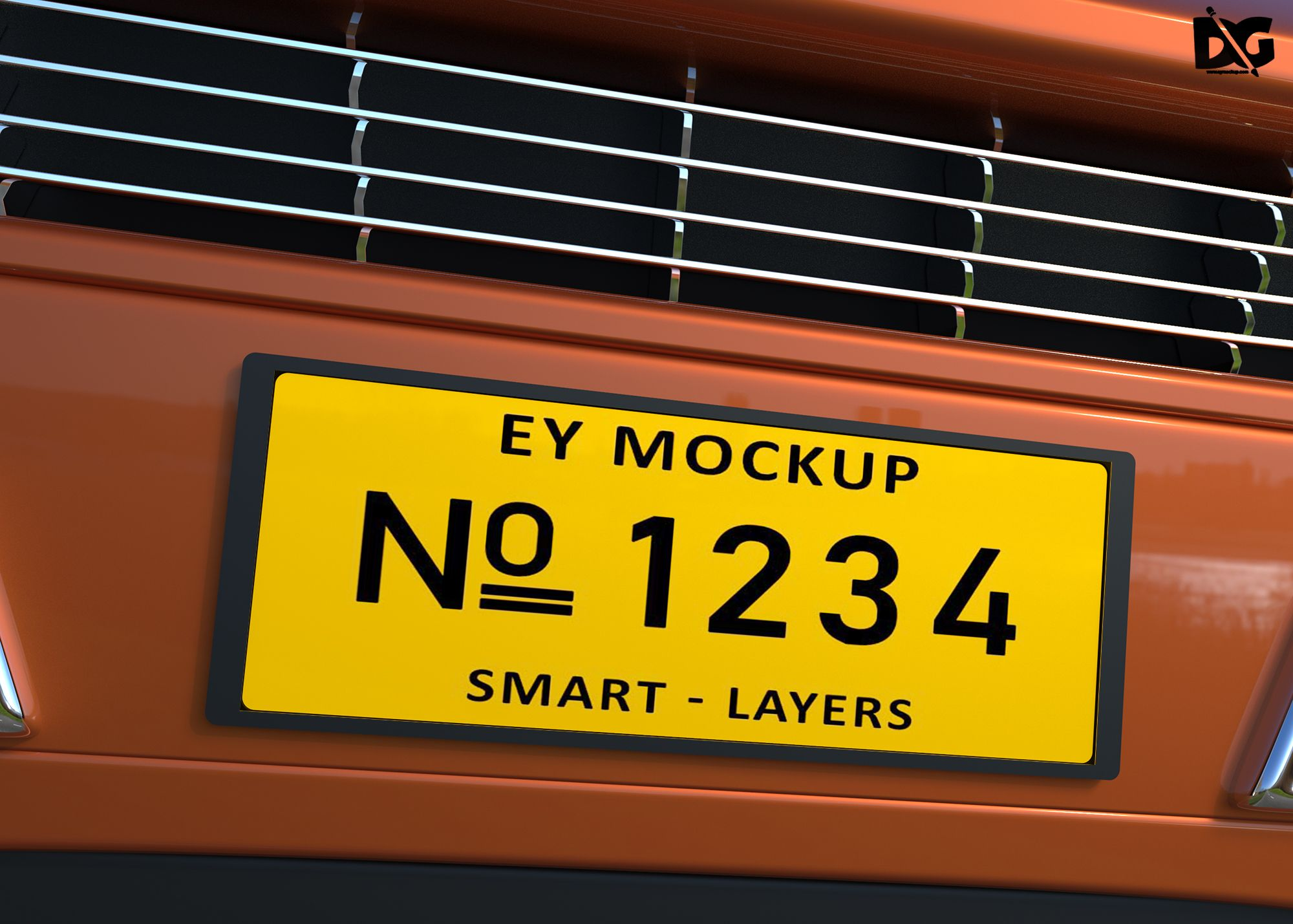 Free Download Car Plate Design Mockup Car number plates