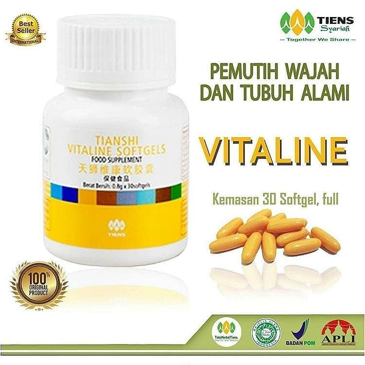 Vitaline Pemutih FullBody Alami . APA SIH VITALINE ITU ? . . Pemutih badan alami vitaline