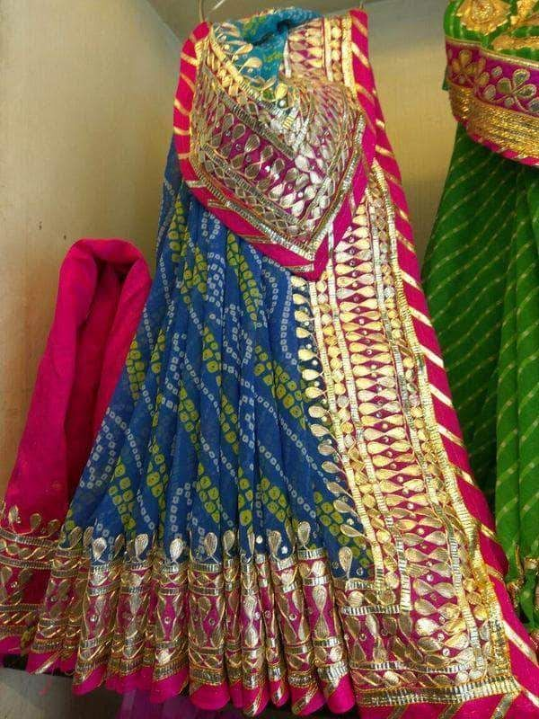 Details about  /Gotta Lace Saree Georgette Saree Rajasthan Sari Prime Quality Printed Saree 40